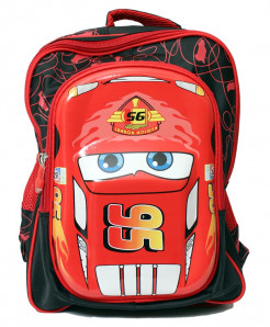 Lightning Mcqueen 3D Cartoon Double Shoulder School Backpack