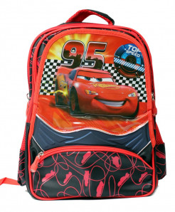 Lightning Mcqueen Cartoon 5 Pockets School Backpack