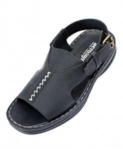 Aerosoft Black Open Toe Casual Sandal P0811