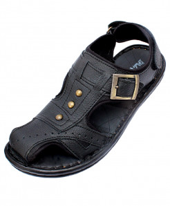 Black Back Strap Side Buckle Casual Sandal CR-5052