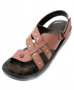 Brown Toe Loop Dotted Style Back Strap Sandal CR-5081