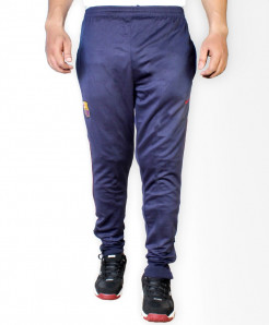 FCB Navy Blue Sport Trousers With Red Strip