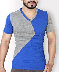 Blue And Grey X Stylish T-Shirt QZS-002