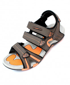 Brown Orange Four Strap Casual Sandal DR-023