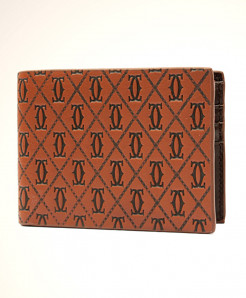 CR Coffee Emboss Design Leather Wallet 9136