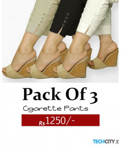 Pack of 3 Stylish Cigarette Pants