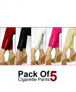 Pack of 5 Stylish Cigarette Pants