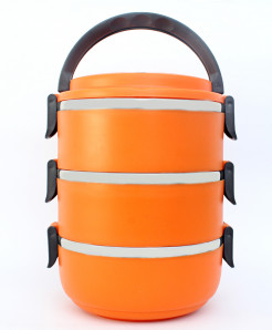 Hengli Orange Stainless Steel Lunch Box