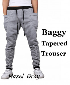 Hazel Gray Baggy Tapered Style Trouser QZS-176