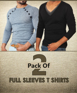 Pack Of 2 Full Sleeve T-Shirts EM-05