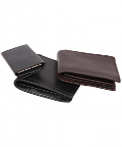 Pack Of 3 Sheep Leather Wallets And Key Chain Holder