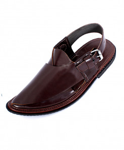 Brown Leather Handcrafted Peshawari Chappal