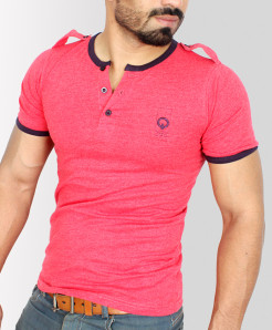 Loops Style Crew Neck Half Sleeve T-Shirt QZS-027