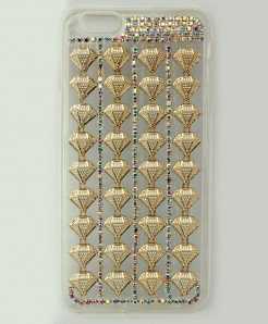 Iphone 6 Plus Golden Diamante Fancy Case