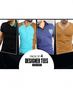 Pack of 4 Designer Tees FS-3024