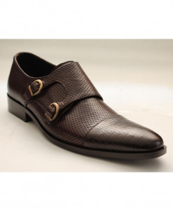 Corio Brown Men Double Monk Strap Shoe CS-101149