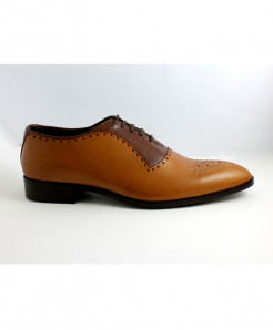 Corio Musturd Italian Toe Punch Up Style Shoes JC-67