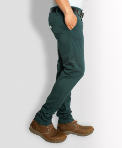 Greenish Stylish Men Causal Cotton Pant