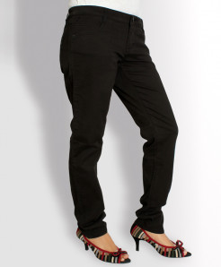 Black Narrow Bottom Ladies Jeans AJ-6104