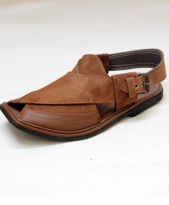 Brown Suede Leather Peshawari Sandal OM-5091