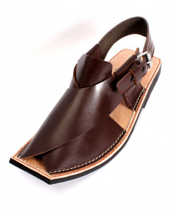 Brown Leather Handcrafted Peshawari Sandal HCL-006