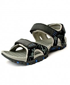 Black Grey Tri Strap  Casual Sandal CB-5040