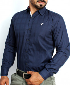 Dark Blue Lining Formal Shirt NS-626MA