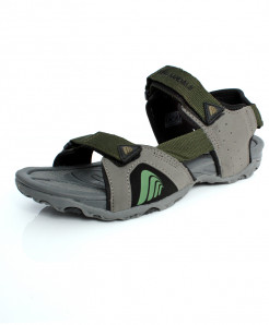 Olive Green And Grey Double Strap Casual Sandal DR-234