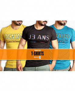 Pack Of 3 Printed T-Shirts NG-6521
