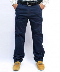 Navy Blue Back Pocket Design Cotton Pant NG-6545