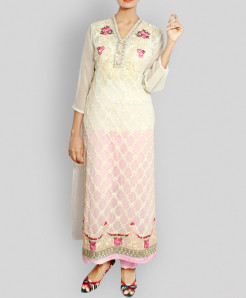 Pink White Designer Stitched Ladies Suit TP-5523