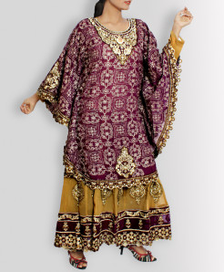 Purple Jhilmil Designer Stitched Ladies Frock TP-5