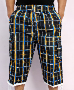 Black 2 Sides Pockets Checkered Shorts NG-2119