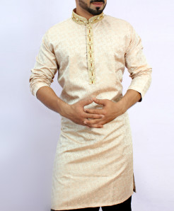 Silver Stylish Embroidered Kurta ARK-834