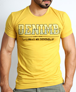 Yellow Deni Logo T-Shirt NG-219