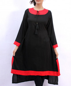 Black Red Airline Style Ladies Kurta FLK-2017MA