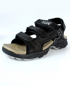 Black Stitched Style  Four StrapCasual Sandal CB-5087