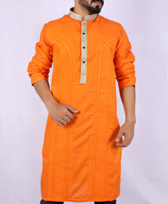 Orange Front Embroidered Stylish Kurta ARK-835