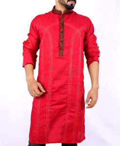 Red Front Embroidered Stylish Kurta ARK-835