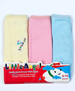 Pack Of 3 Newborn Baby Plain Face Towel