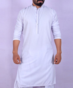 White Neck Design Stylish Kurta Shalwar ARK-912