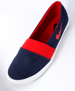 Blue And Red Canvas Shoes SC-1011