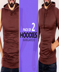 Pack of 2 Kangroo Stylish Hoodies GT-990