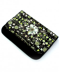 Black Floral Printed Design Stylish Clutch GL-1205