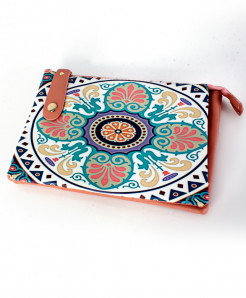 Varicolored Printed Design Stylish Clutch GL-1210