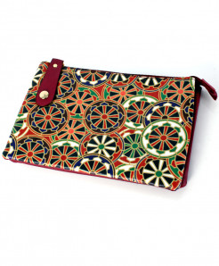 Wheel Printed Design Stylish Ladies Clutch GL-1212