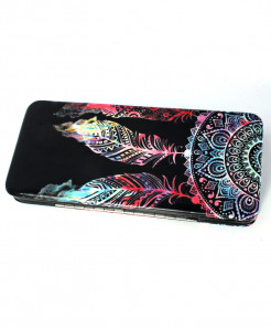 Black Fur Printed Design Stylish Clutch GL-1216