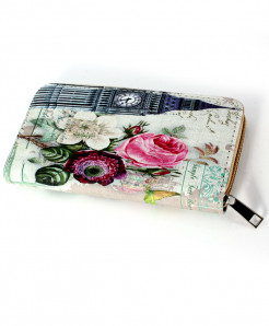 White Clock Printed Design Stylish Clutch GL-1222