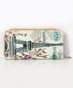 Eiffel Tower Printed Stylish Ladies Clutch GL-1224