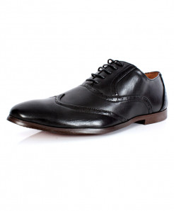 Black Front Stitched Design Formal Shoes CB-2116